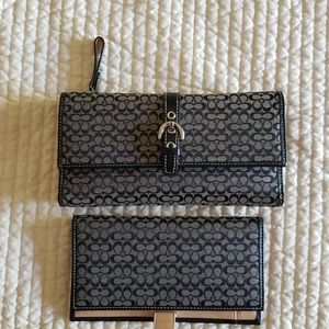 Authentic Coach Wallet & Checkbook